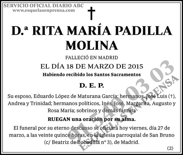 Rita María Padilla Molina